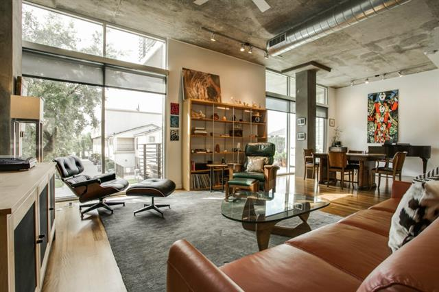 Luxury urban loft at 3030 bryan for Open concept loft