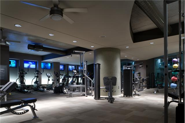 fitness center at icon in the gulch condos