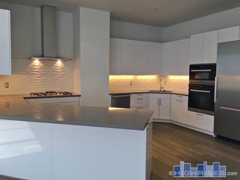 Modern kitchen at Astoria condos Houston