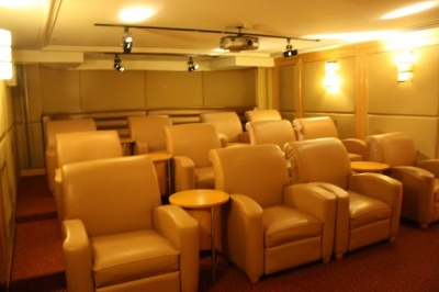 Clara Barton movie screening room