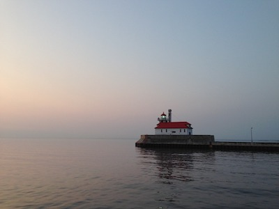 Lighthouse on the lake in Dulut
