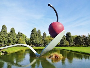 Minneapolis Spoonbridge and Cherry sculpture